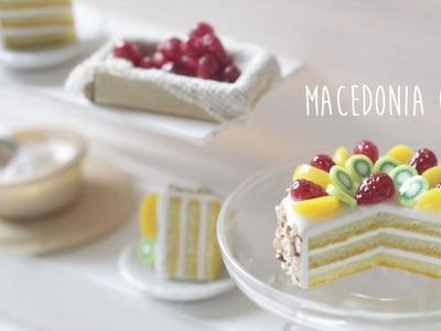 Macedonia Layer Cake - Polymer Clay Tutorial