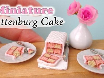 Miniature Battenburg Cake, Polymer Clay Tutorial || Maive Ferrando