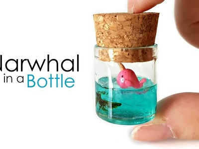 Miniature Narwhal in a Bottle ♥ Polymer Clay & Resin Tutorial