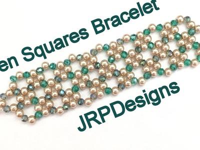 Open Squares Bracelet- Beginner to Intermediate beading tutorial