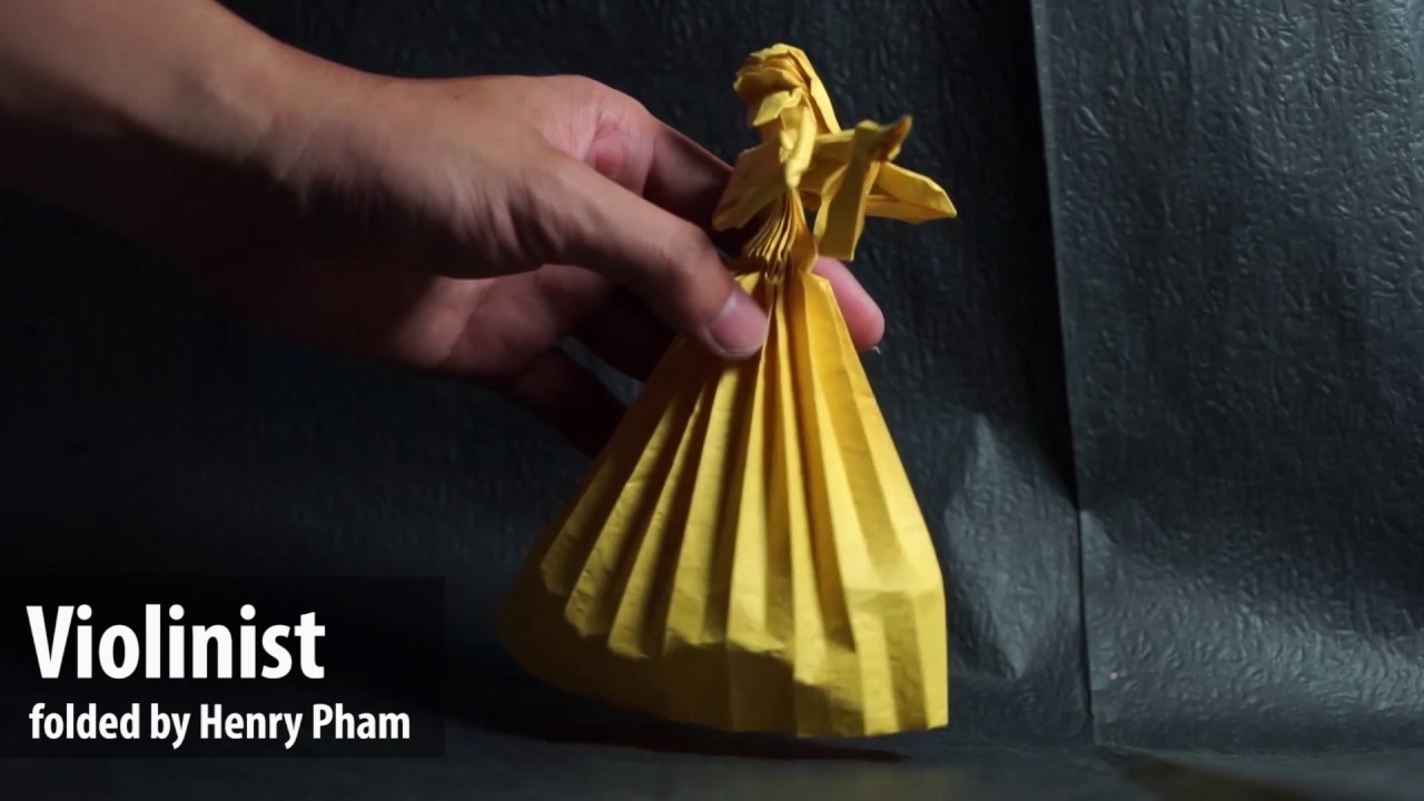 how to make origami violinist