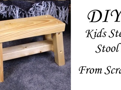 Quick DIY Kids Stool from SCRAPS!!!