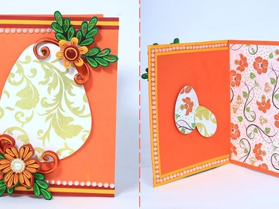 Quilling Easter Card - Simple Handmade Greeting Card Making for Easter