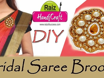 SAREE BROOCH how to make saree pin (brooch) fancy new with new design| Art With Creation|#66