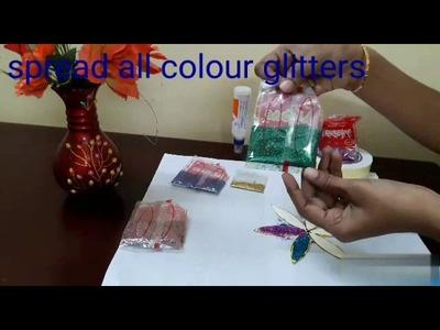 SIMPLE GLITTER WORK  FOR KIDS -ART & CRAFT