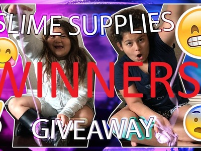 SLIME SUPPLY GIVEAWAY | WINNERS ANNOUNCED | 6 WINNERS | HOW TO MAKE SLIME
