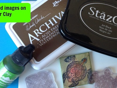 Stamped images on polymer clay