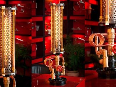 Steampunk DIY Industrial Pipe Lamp #8