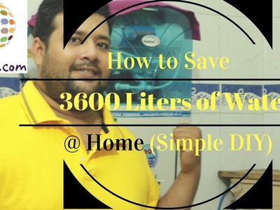 Still22 Videos: Simple & Best Water Conservation Project | DIY to Save Water @ Home | RO Purifier