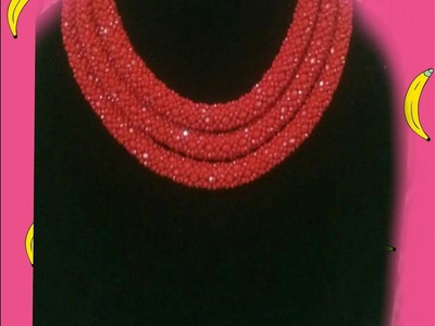 The tutorial on how to make this tubular bead nacklace