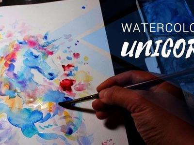 Watercolor Rainbow UNICORN. Secrets of Magic