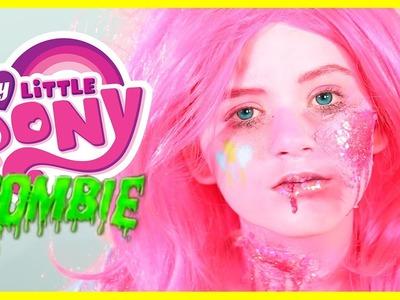 ZOMBIE MY LITTLE PONY PINKIE PIE MAKEUP TUTORIAL! Equestria Doll Cosplay Halloween | KITTIESMAMA