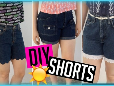 3 DIY Shorts from Jeans ♡ Scalloped, Cuffed, and Lace Trim | ItzaMeylin