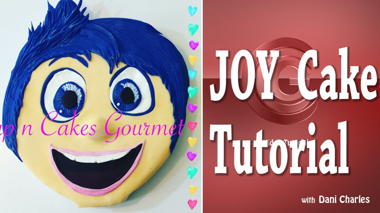 Cake DIY : Joy ( Inside Out. Disney Pixar) Cake Tutorial with Free Template