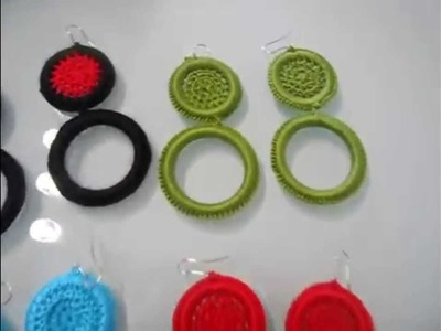 Crochet accessories with rings for flamenco, flowers