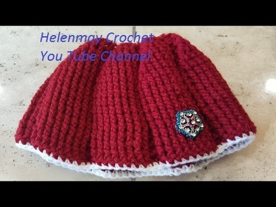 Crochet Easy Beginner Ribbed Ponytail Winter Hat DIY Tutorial