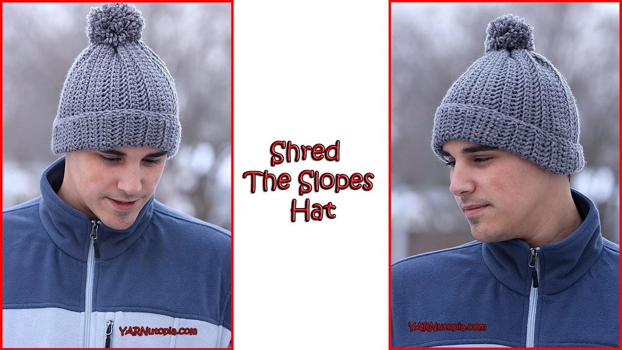 Crochet Tutorial: Shred The Slopes Hat
