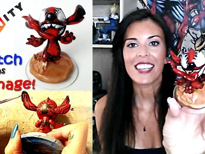 Custom Disney Infinity Figure Stitch as Carnage DIY -ed Sculpt and Repaint For Wii-U