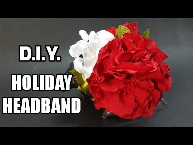 D.I.Y. American Crepe Holiday Headband   MyInDulzens