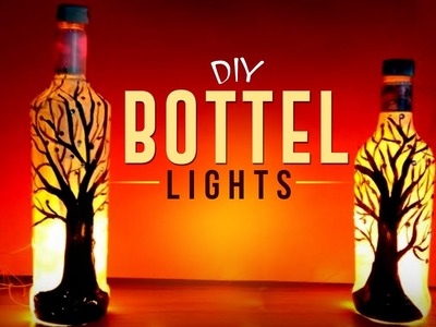 DIY Beautiful Bottle Lights for Christmas  | Easy To Make Bottle Lights - Craft Basket.