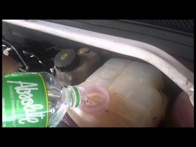 DIY Chevrolet Cruze flush coolant and change coolant.surge tank