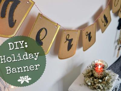 DIY: Christmas Banner