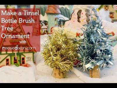 DIY Christmas Ornament - Tinsel Bottle Brush Tree