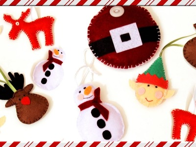 DIY Christmas Tree Ornaments   Super Easy and Inexpensive   Felt fabric craft