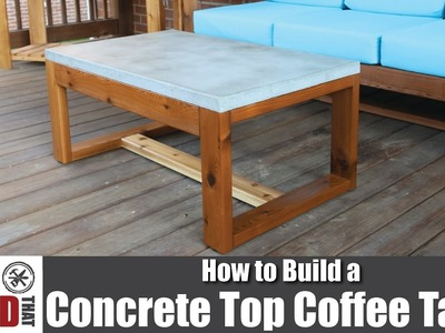 DIY Concrete Top Outdoor Coffee Table | How to Build