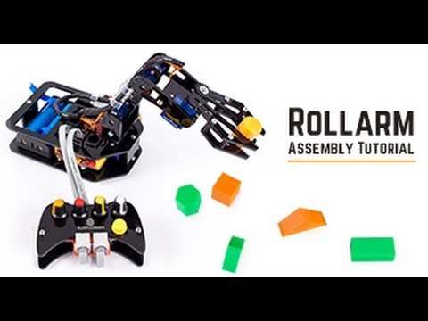 DIY Control Robot Arm Kit Rollarm for Arduino - Assembly Tutorial 01 Assembling