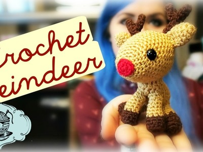 DIY Crochet Reindeer Amigurumi Christmas Rudolph How To! ¦ The Corner of Craft