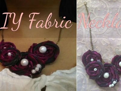Diy Fabric Necklace | Handmade Fabric Flower Necklace Tutorial | Unique Cloth Necklace