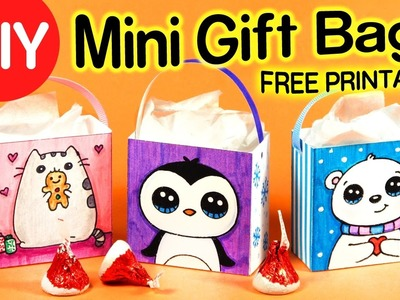 DIY How to Make a Mini Gift Bag step by step - Easy Holiday Crafts