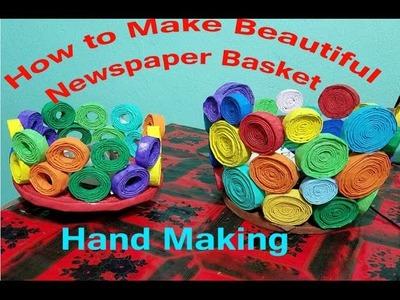 DIY:  How to Make Beautiful Newspaper Basket || Tutorial
