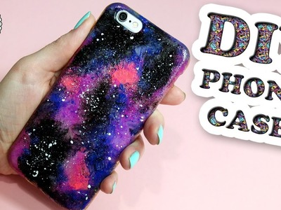❤ DIY ❤ How to make GALAXY phone case! Easy phone case tutorial