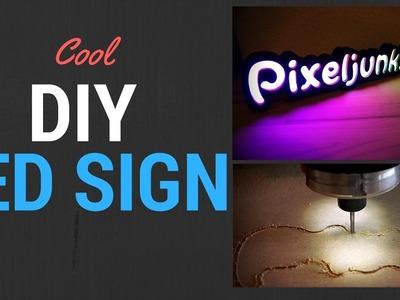 DIY Illuminated Multicolor LED Sign Made On X-Carve