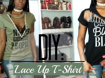 DIY: Lace Up T-Shirt! | $5