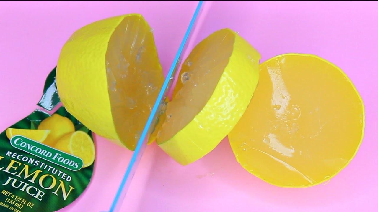 DIY Lemon Shaped Sour Gummy Candy