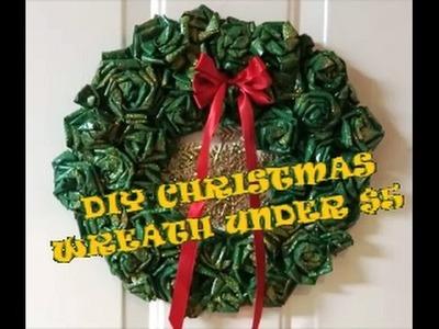 DIY NEWSPAPER WREATH | CHRISTMAS WREATH | HOLIDAY WREATH IDEAS!!