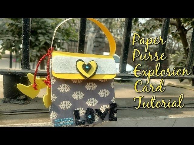 DIY Paper Purse Explosion Card Tutorial | How To | CraftLas
