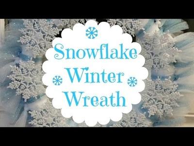 DIY Snowflake Winter Wreath ❄