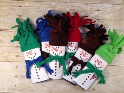 DIY Snowman Chocolate Stocking Stuffer