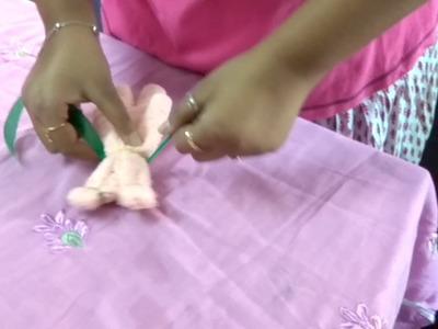 DIY Towel art || How to make a teddy bear using a towel