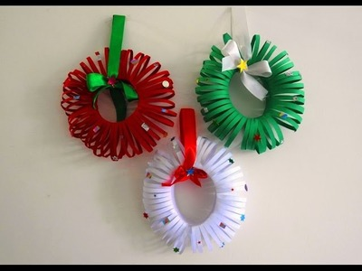 Easy Christmas Wreath Tutorial ~ DIY Christmas Room Decor ~ X'mas Decor Ideas with Paper.