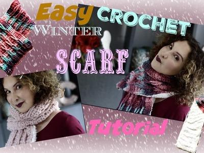 Easy Crochet Winter Scarf Tutorial
