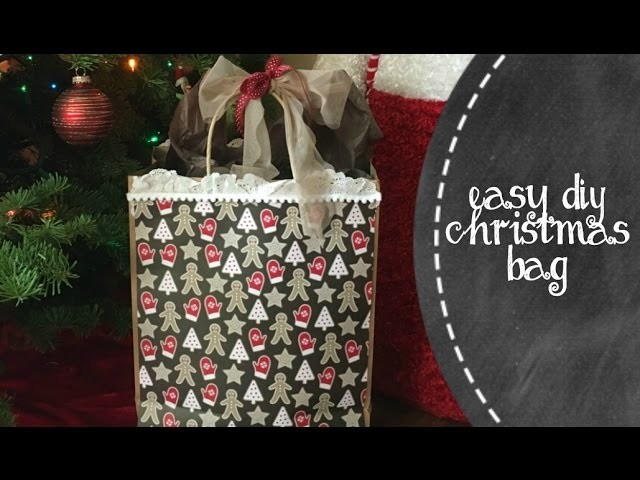 Easy DIY Christmas Gift Bag