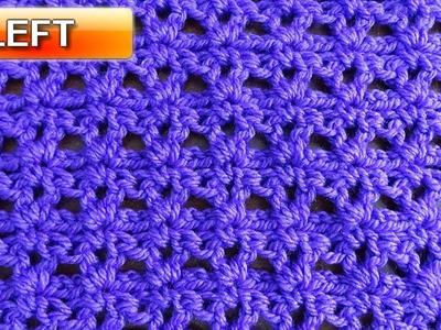 Easy V Stitch - Left Handed Crochet Tutorial