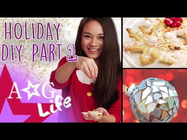 Holiday DIYs #1: Snowflake Holiday Cookies & Disco Ornament DIY   #TeamAGLife Ep. 59   American Girl