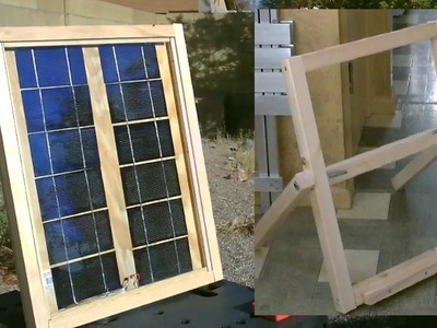 "Homemade Solar Panel ""Stand"" - Easy DIY stand (for my DIY solar panel) - Full Instr."