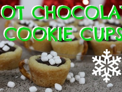 HOT CHOCOLATE COOKIE CUPS | Easy DIY